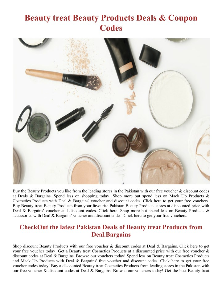 beauty treat beauty products deals coupon codes n.