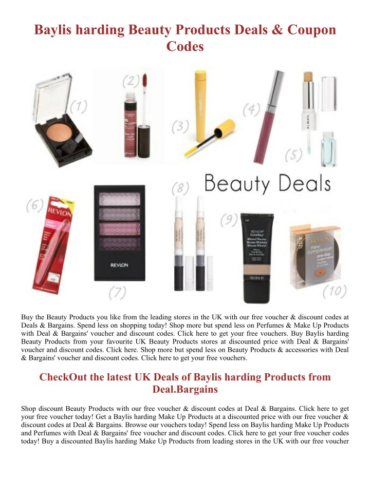 PPT - Baylis harding Beauty Products - Deal Bargains PowerPoint