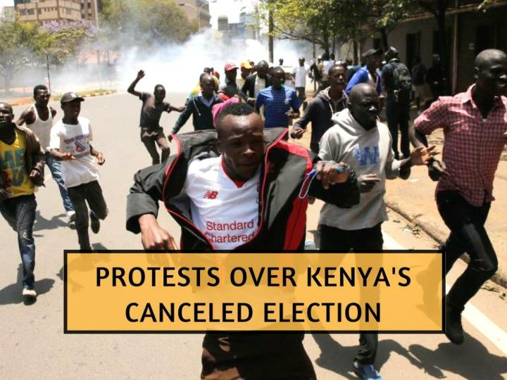 protests over kenya s canceled election n.