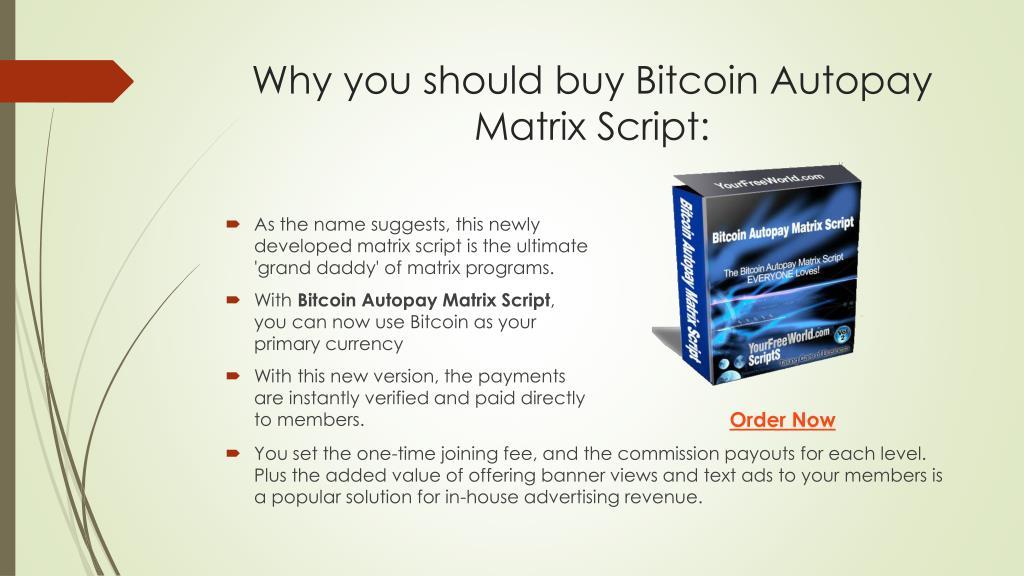 bitcoin matrix script)