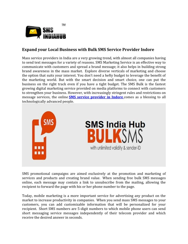 PPT - Expand your Local Business with Bulk SMS Service