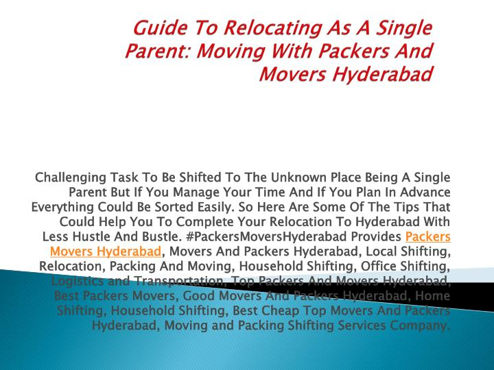 guide to relocating as a single parent moving with packers and movers hyderabad n.