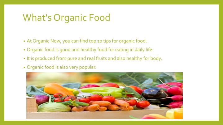 is organic food really healthier for