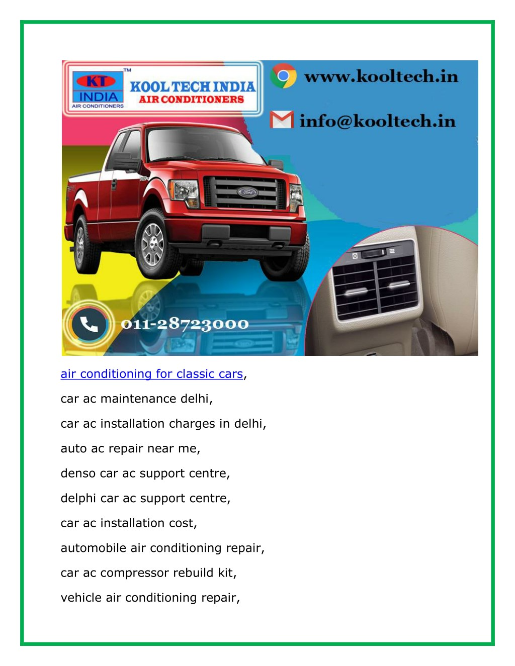 Ppt Auto Ac Repair And Denso Car Ac Support Centre Powerpoint