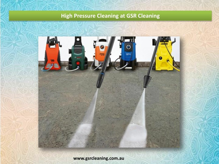 high pressure cleaning at gsr cleaning n.