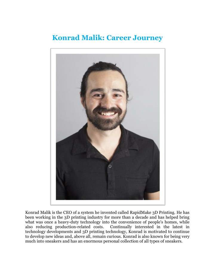 konrad malik career journey n.