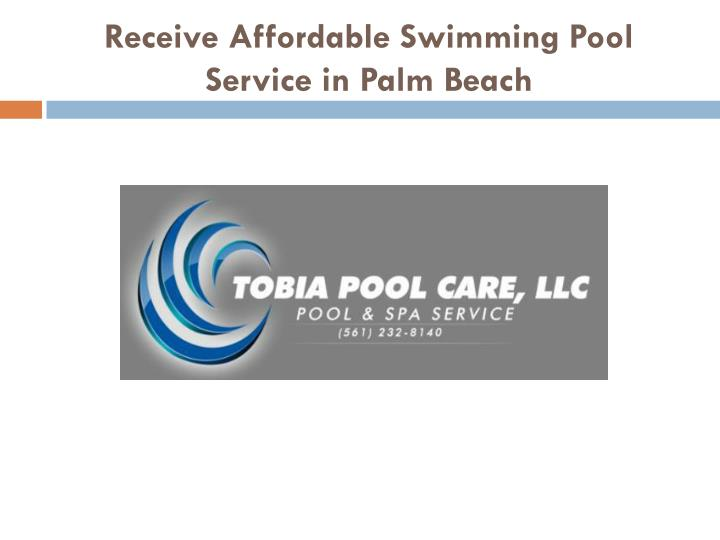 receive affordable swimming pool service in palm beach n.