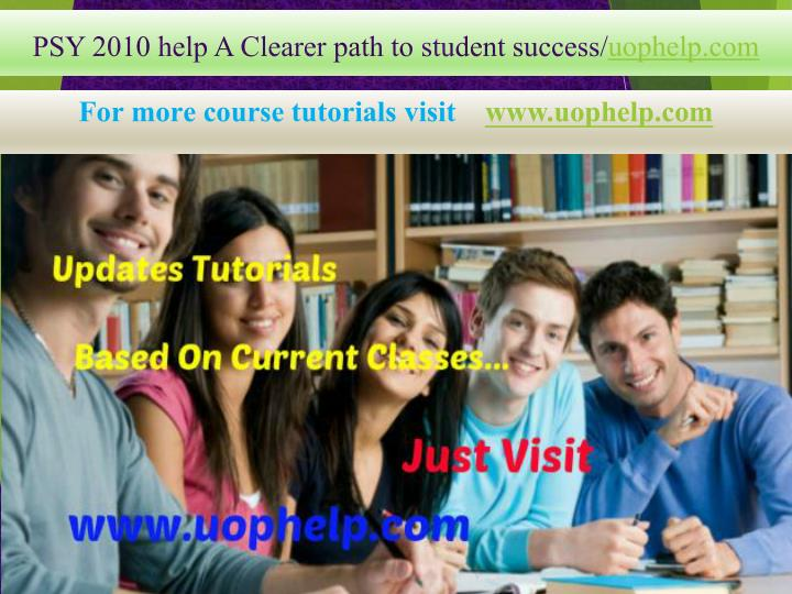 psy 2010 help a clearer path to student success uophelp com n.