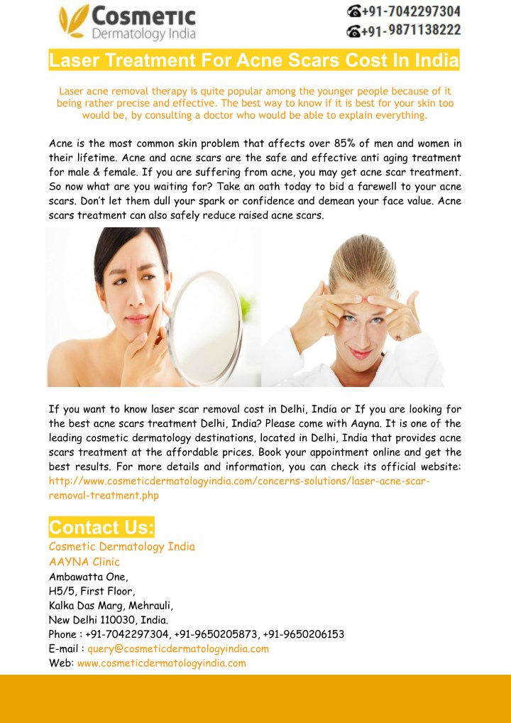 laser treatment for acne scars cost in india n.