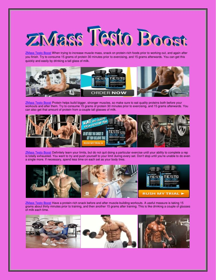 zmass testo boost when trying to increase muscle n.