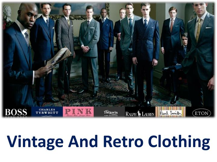 vintage and retro clothing n.