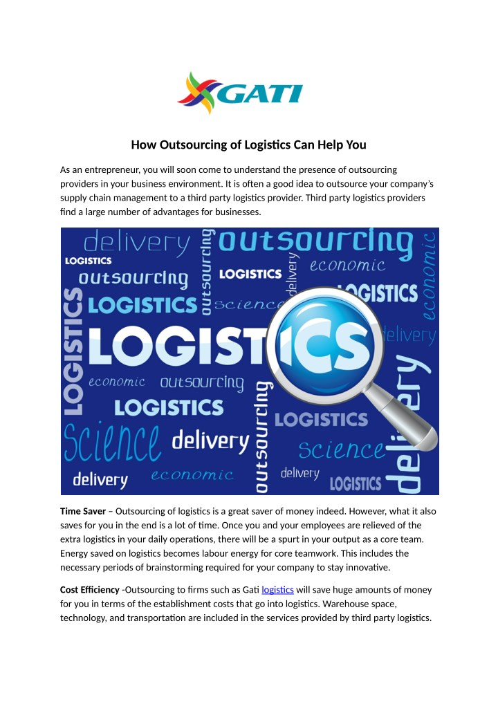 how outsourcing of logistics can help you n.