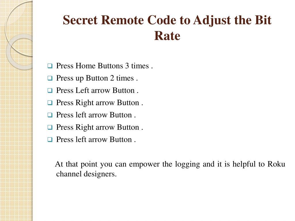 PPT - Tips &Tricks Access Roku Secret Menu PowerPoint
