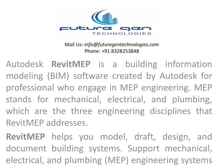PPT - Revit MEP Training in hyderabad PowerPoint Presentation - ID
