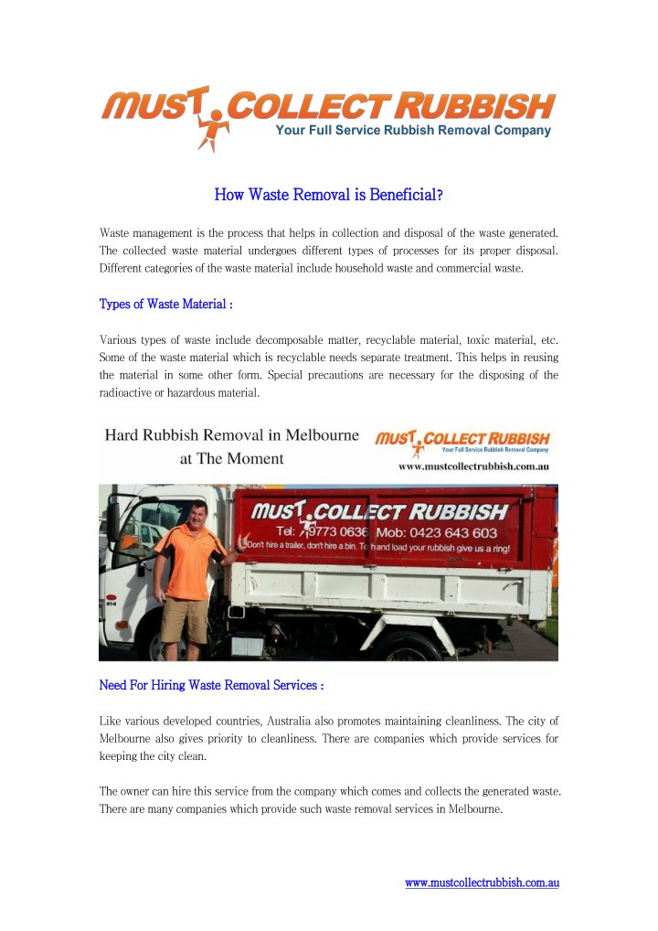 How how waste waste removal