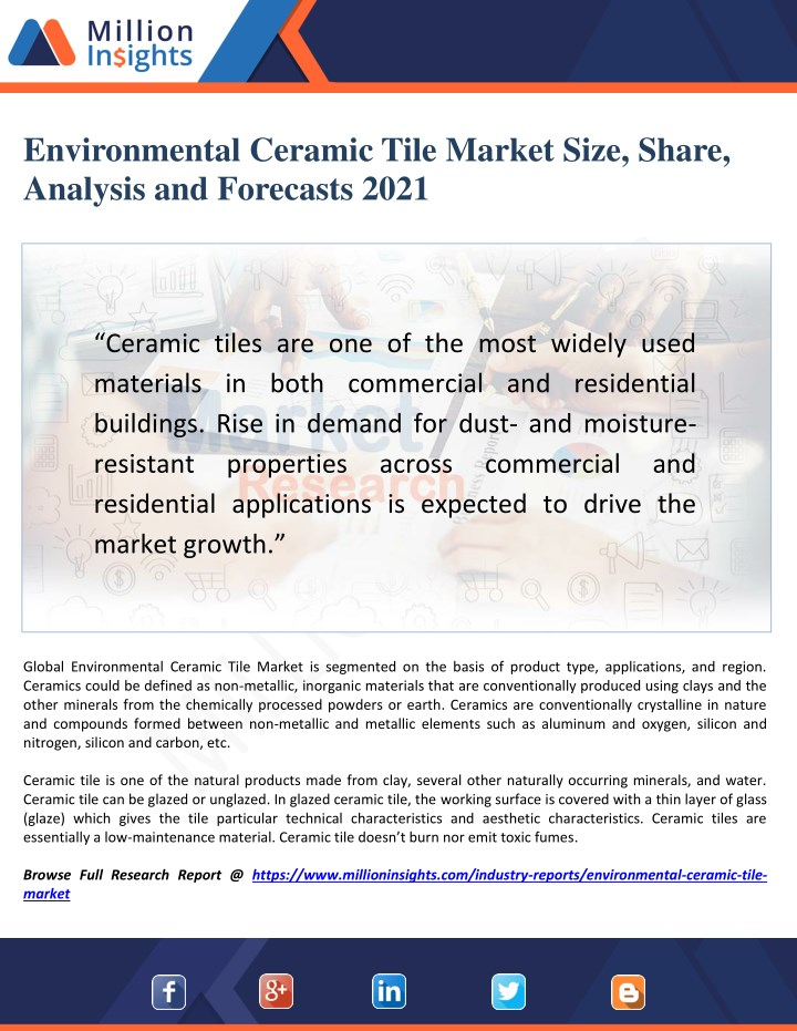 Ppt Environmental Ceramic Tile Market Challenges Trends And