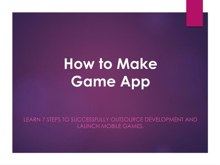 how to make game app n.