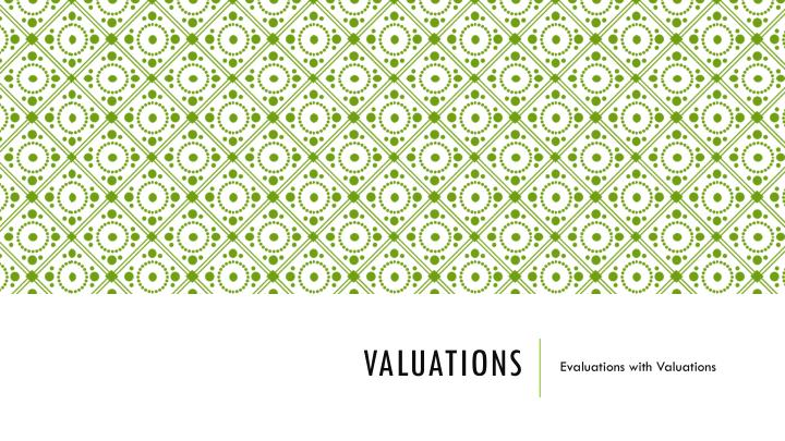valuations n.
