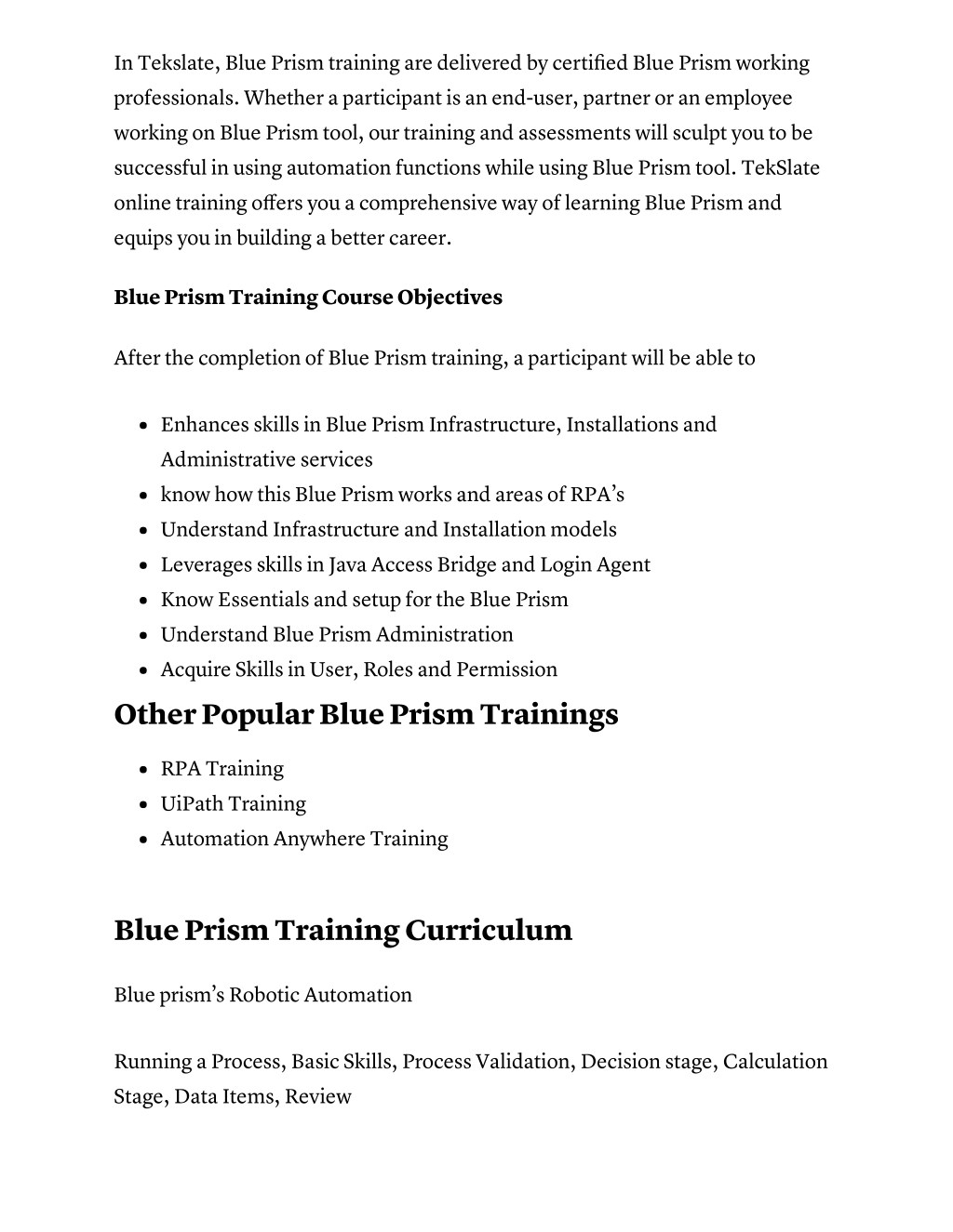 PPT - Blue Prism Online Training with Course Certification
