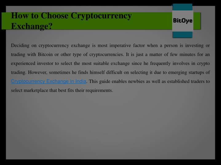 how to choose cryptocurrency exchange n.