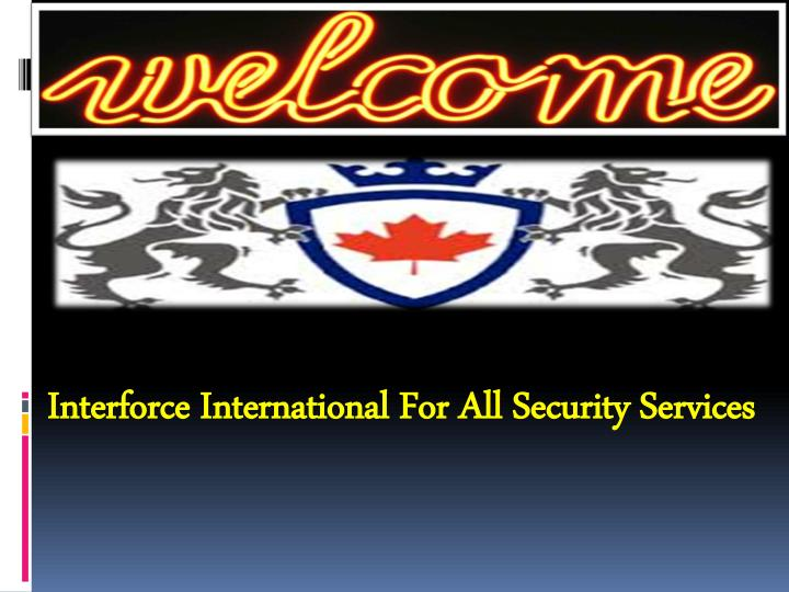 interforce international for all security services n.