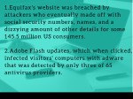 1 equifax s website was breached by attackers