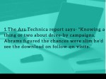 1 the ars technica report says knowing a thing