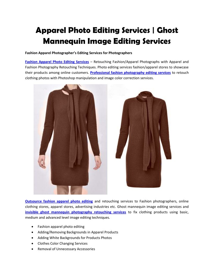 apparel photo editing services ghost mannequin n.