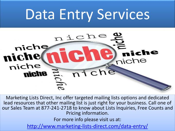 data entry services n.