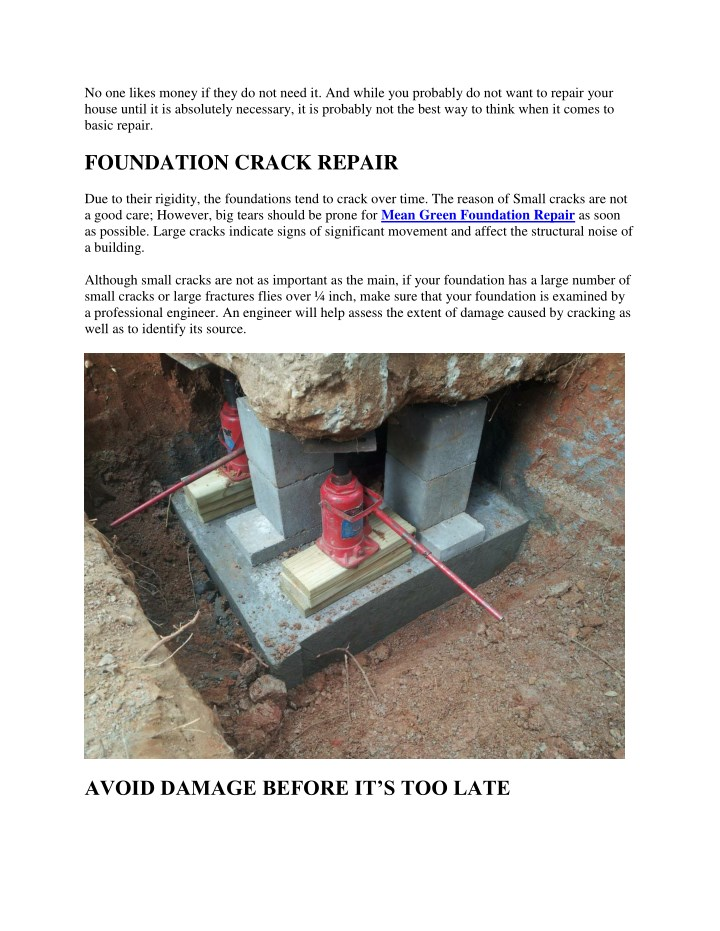 Ppt The Importance Of Foundation Repair Point