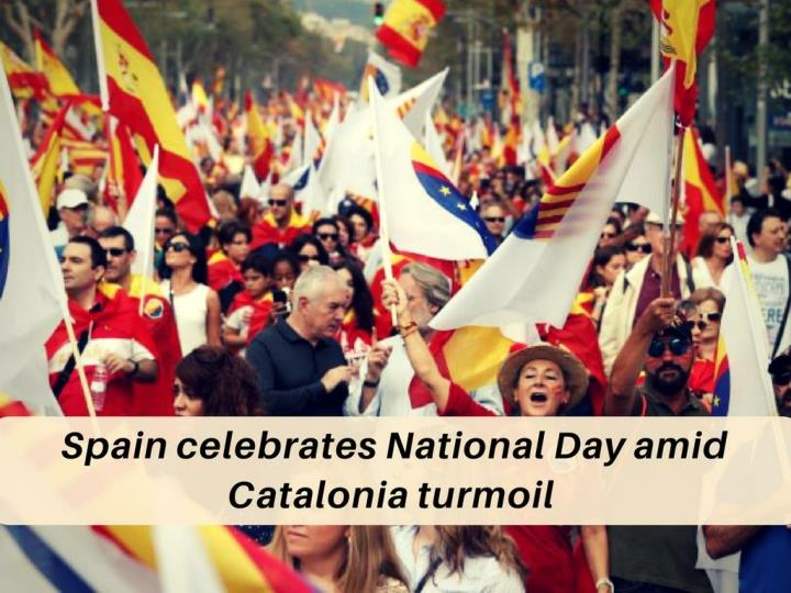 spain celebrates national day amid catalonia turmoil n.