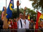 ultra right wing demonstrators make fascist
