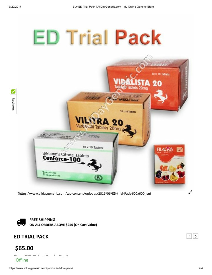 Viagra trial pack