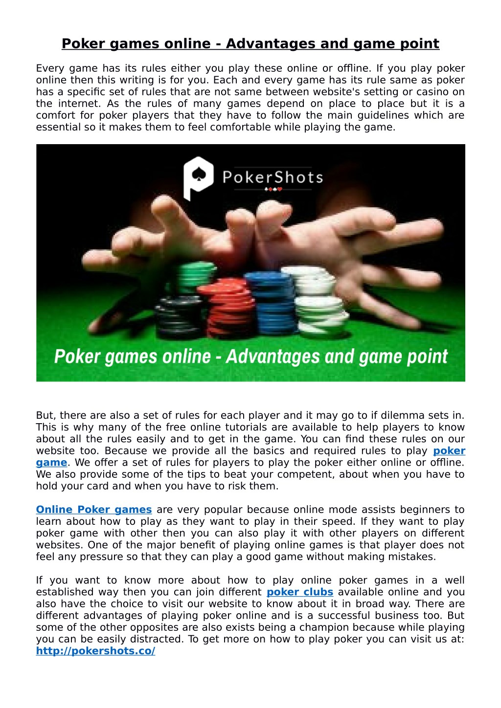 Ppt Poker Games Online Advantages And Game Point Powerpoint Presentation Id 7719319