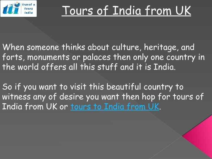 tours of india from uk n.