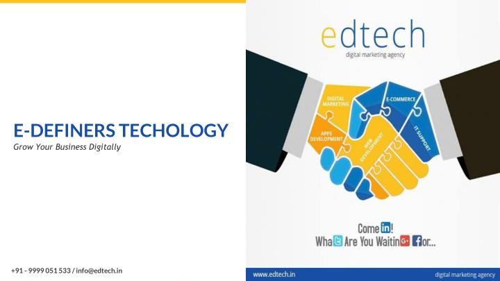 e definers techology grow your business digitally n.