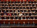delegates clap as chinese president xi jinping
