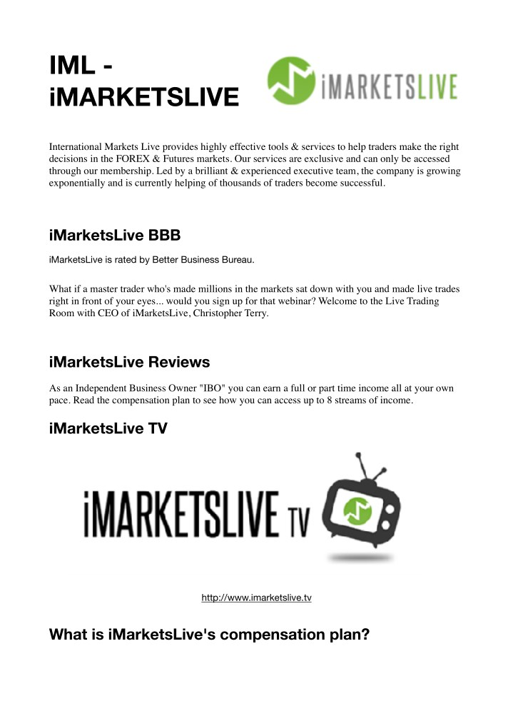 Imarketslive tv login