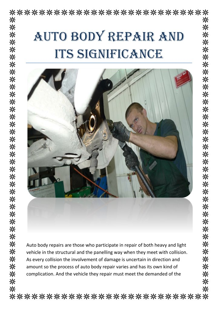 auto body repair and its significance n.