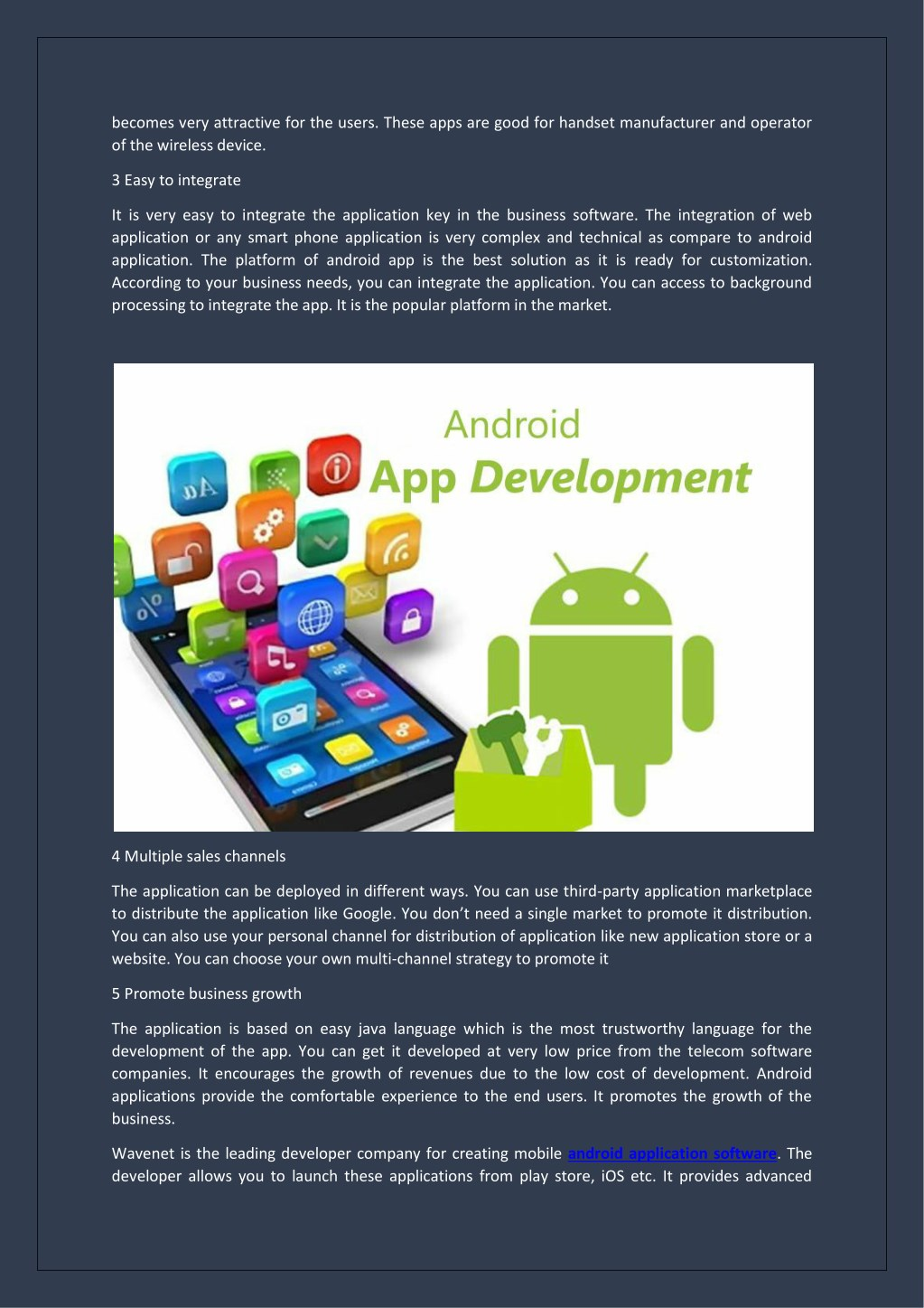 PPT - Five Advantages of Hiring an Android Web Developer