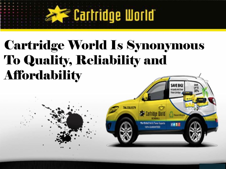 cartridge world is synonymous to quality n.