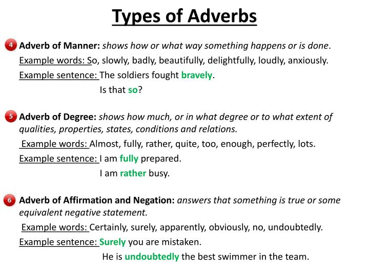 Examples Of Adverb Of Affirmation And Negation Images Example