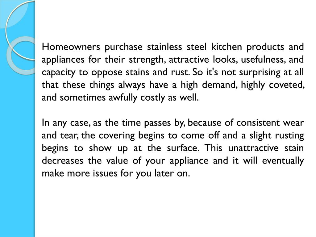Ppt Tips To Remove Rust From Stainless Steel Appliances