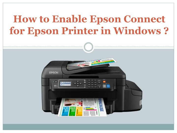 how to enable epson connect for epson printer in windows n.