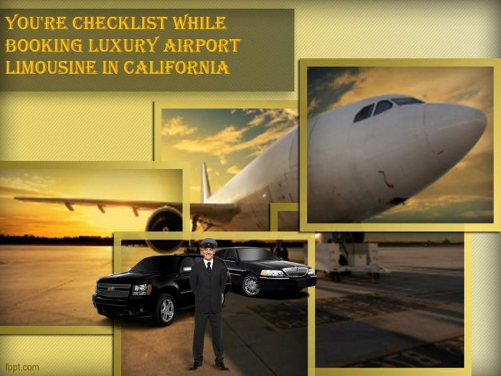 you re checklist while booking luxury airport n.