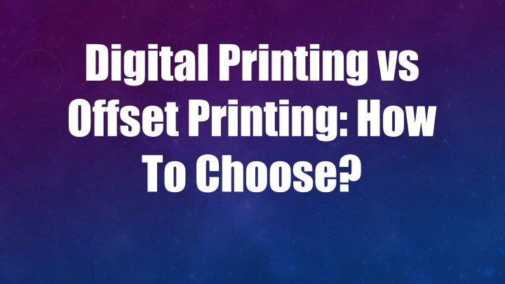 PPT - Digital Printing vs Offset Printing How To Choose