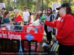 a woman pushes a model tourist bus reuters lucas