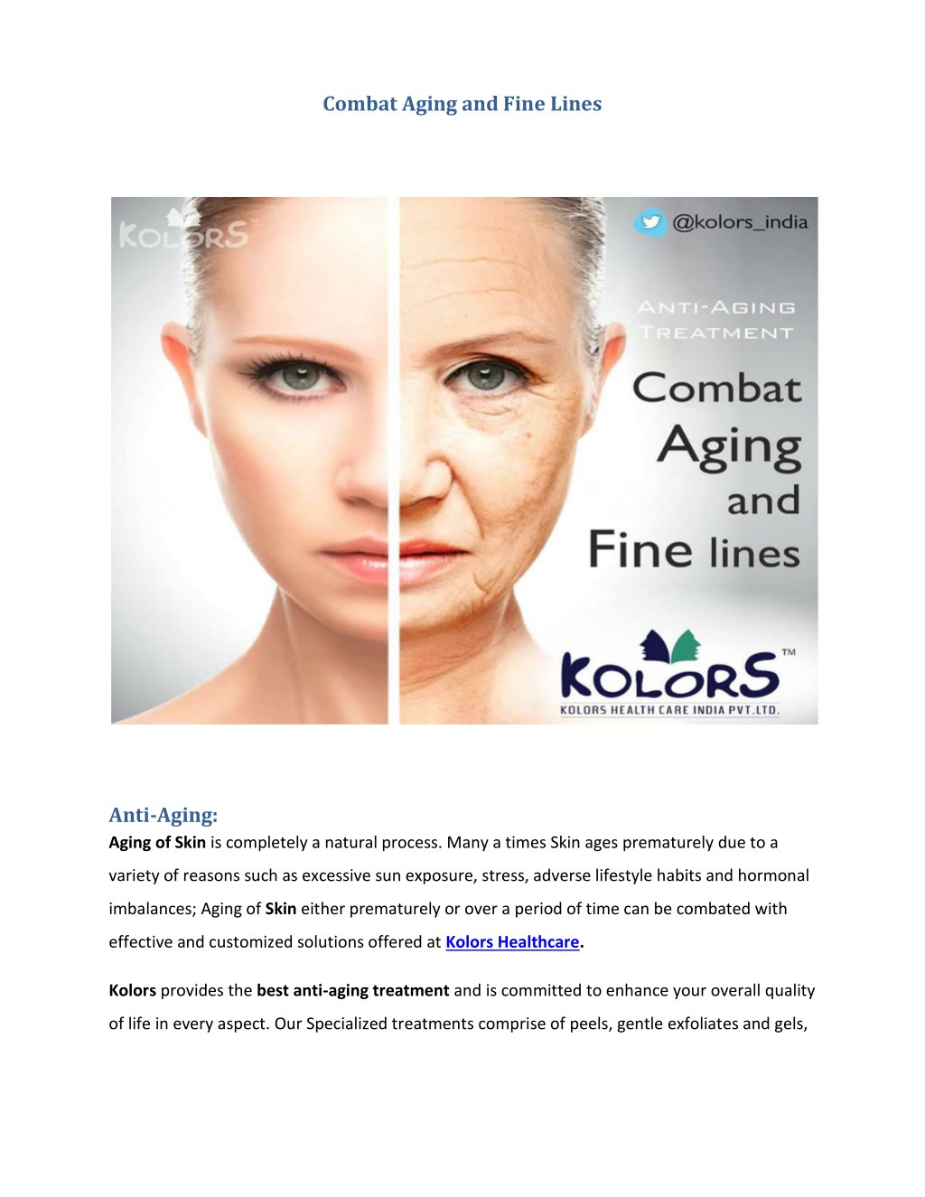 Ppt Best Anti Aging Treatment Powerpoint Presentation Free