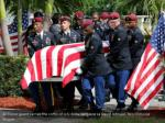 an honor guard carries the coffin of u s army 1