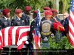 an honor guard carries the coffin of u s army